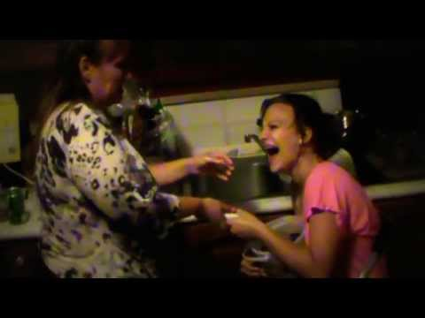 Ellie Gets Water Pik'd Squirting Everywhere And Mom Gets Sprayed Must Watch video