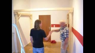 time lapse building a loft bed. Black Bedroom Furniture Sets. Home Design Ideas