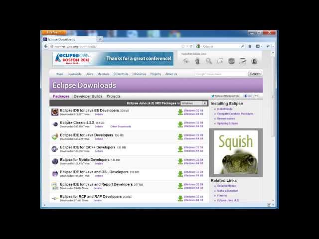 Java Training - How to install Eclipse and how to create a Basic Java Program