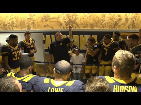 Cal Football: Post game locker celebration (Colorado)