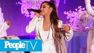 Ariana Grande Almost Falls During 'Thank U, Next' Performance | PeopleTV