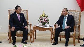 Thủ tướng tiếp Cố vấn Nội các của Thủ tướng Nhật Bản, Bộ trưởng Thương mại và Công nghiệp Ô-man