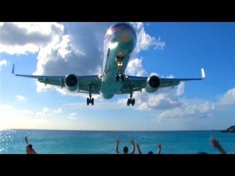 VERY COOL! Jets Landing at Princess Juliana Airport on SXM, Sint Maarten