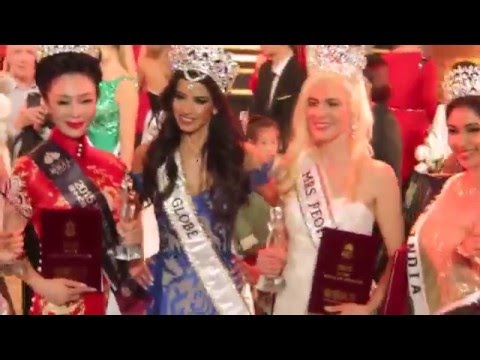 Mrs Globe 2015/ 2016 - Moments after Crowning