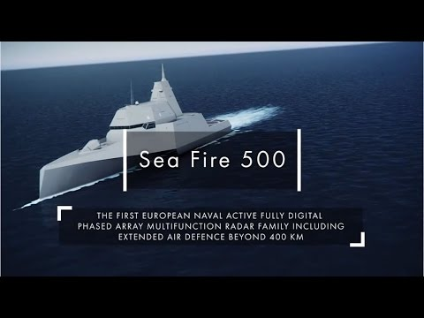 Thales Sea Fire 500 new multifunction fixed array radar unveiled at Euronaval 2014