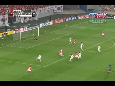 The asian qualification game of South Korea and Iran which was played in Seoul's World Cup Stadium today. The match ended in a tie of 1-1 for both teams, a d...