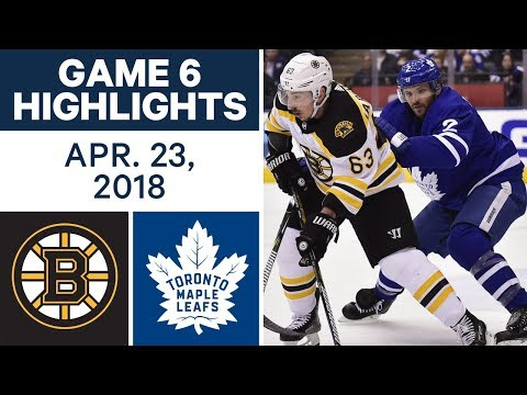 NHL Highlights  Bruins vs. Maple Leafs, Game 6 - Apr. 23, 2018