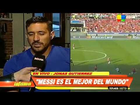 Jonás Gutiérrez también defiende a Messi de las críticas