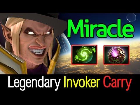 Miracle- Dota2 [Invoker] Legendary Invoker 22 Kills Carry Game