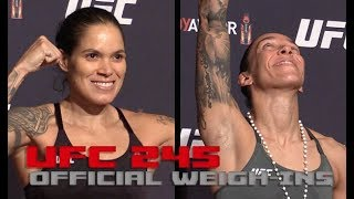 UFC 245 Official Weigh-Ins: Amanda Nunes vs Germaine de Randamie