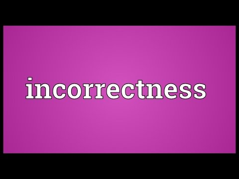 Header of incorrectness