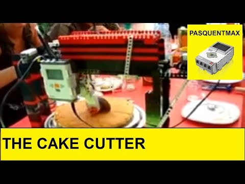 lego nxt cake cutter - new creation mindstorms 2.0 robot