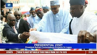 President Buhari Commissions Projects In Lagos 24/04/19 Pt.1 |News@10|