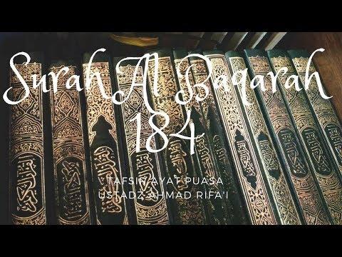 Ustadz Ahmad Rifa'i - Tafsir Ayat Puasa - Surah Al Baqarah Ayat 184