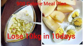 Lose 10Kg in 10 Days | Egg Dietplan For Fast Weightloss| 900 Calories Diet plan