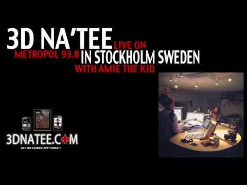 INTERVIEW: 3D Na'Tee (@3dnatee) visits Metropol 93.8 in STOCKHOLM SWEDEN