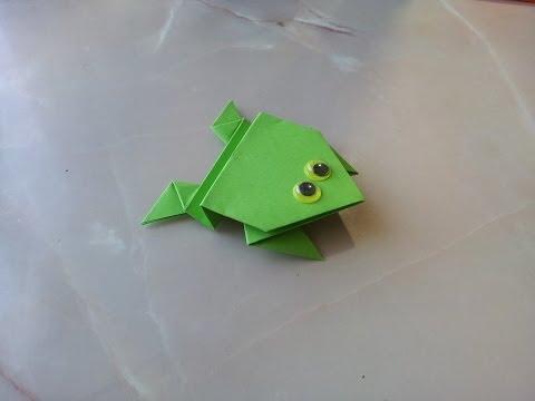 Жаба поделка из бумаги 92