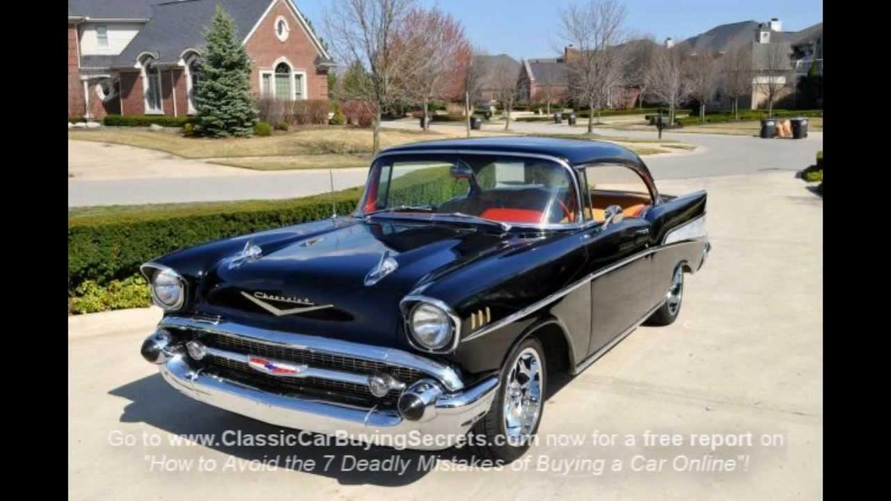 1957 Chevy Bel Air 2 Door Hardtop Classic Muscle Car For Sale In Mi Vanguard Motor Sales Youtube