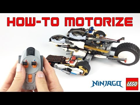 HOW TO Motorize Ultra Stealth Raider LEGO NINJAGO #70595 DIY