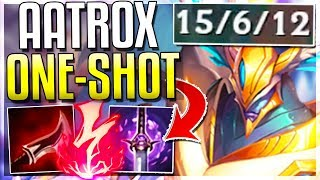NEW AATROX REWORK ONE-SHOT BUILD! WTF IS THIS DMG?? Assassin Aatrox Mid Gameplay | League of Legends