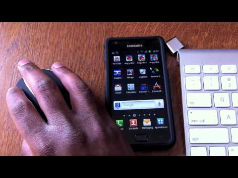 Samsung Galaxy S II (S2) Bluetooth Mouse and Keyboard. MHL + OTG Demo