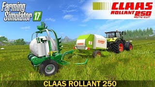Farming Simulator 17 CLAAS ROLLANT 250 WITH BALE WRAPPER ARM