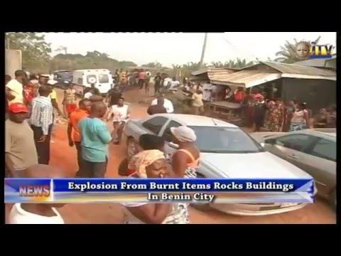 Explosion From Burnt Items Rocks Buildings In Benin City