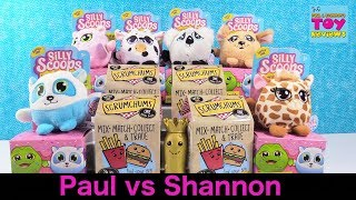 Paul vs Shannon Silly Scoops Scrumchums Challenge Toy Review | PSToyReviews