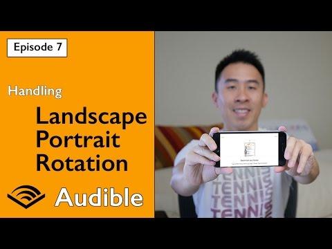 Swift 3: Audible - How to handle Landscape and Portrait Orientation (Ep 7)