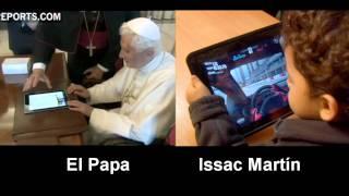 Video comparando al Papa y a un niño al momento de usar el iPad
