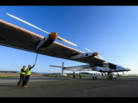 SOLAR IMPULSE 2 takes off on final flight.  Takeoff from Cairo.