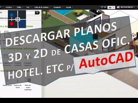 Descargar planos 3D y 2D de Casas Oficinas Hoteles Etc para AutoCAD