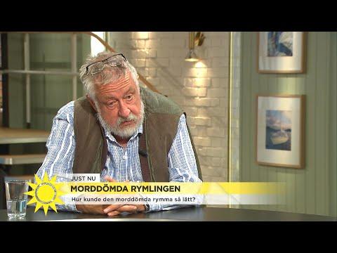 """GW om morddömda rymlingen: """"sannolikheten att han kan hålla sig fortsatt gömd ä - Nyhetsmorgon (TV4)"""