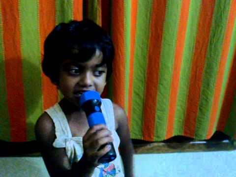 My sister singing