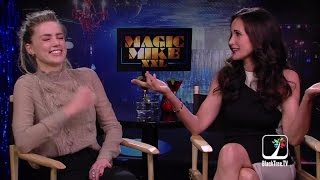 Amber Heard and Andie MacDowell interview Magic Mike XXL