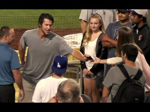 Clayton Kershaw at Dodger Stadium 'Faith Night' After the Game on July 27, 2013