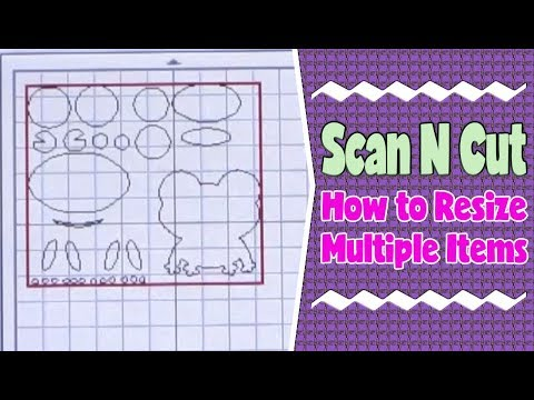 Brother ScanNCut Tutorial: How to Resize Multiple Items
