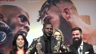 Tevin Farmer - Jono Carroll plus undercard Final Press Conference