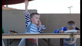 Twin Wins Pie Eating Contest!!