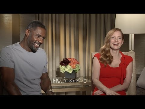 MOLLY'S GAME Interviews: Jessica Chastain, Idris Elba And Aaron Sorkin