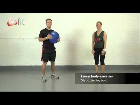 Foot. Ankle & Knee Exercises using the 66fit  Wobble Cushion - Part 1