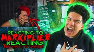 Reacting To MARKIPLIER Try Not To Laugh | Challenge