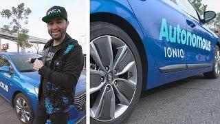 My first autonomous car test drive…