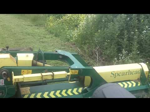 Fendt 211 and spearhead mower
