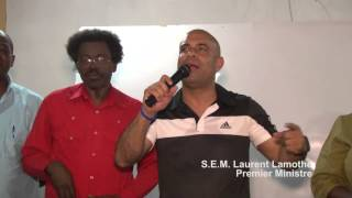 VIDEO: Premier Minis Laurent Lamothe pale ak peyizan Kenscoff sou Production Nationale la...