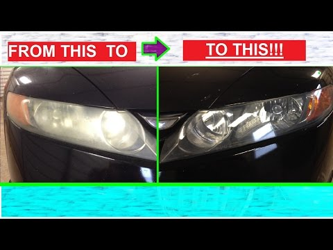 Make your Headlights Shiny and Clear like NEW AGAIN. Attempted on Honda CIVIC
