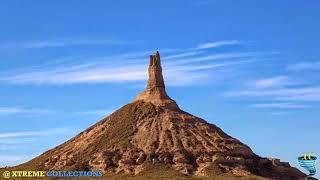 Chimney Rock, The most picturesque landmark along the Oregon trail in Nebraska, California
