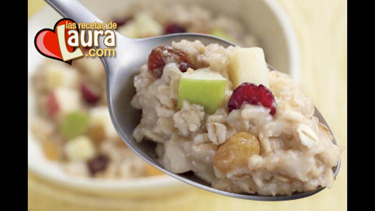 Desayuno Saludable Avena Con Leche De Almendras Las