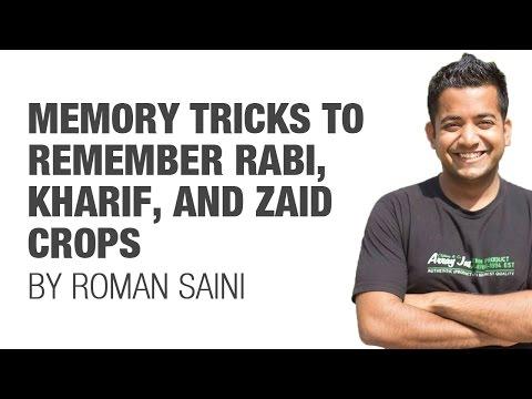 Tricks to remember Rabi, Kharif, Zaid crops (UPSC/IAS, SSC CGL, CHSL, Railways, RBI, Bank PO)
