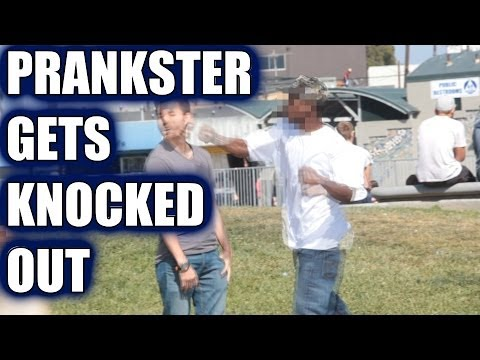 """PRANKSTER GETS KNOCKED OUT! - """"KISS MY ASS"""" PRANK"""
